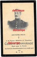 Oorlog Guerre Celestin Bonmariage Lorcé Soldaat Vestingsartillerie Fort De Chaudfontaine Gesneuveld Aug 1914 - Devotion Images