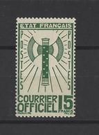 FRANCE.  YT  Service N° 14  Neuf **  1943 - Service