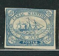 EGYPTE Canal De Suez N° 3 (*) Touché - 1866-1914 Khédivat D'Égypte
