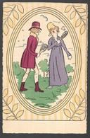 Cpa...illustrateur...H.Dune...couple En Costume Jouant Au Badminton... - Illustrateurs & Photographes