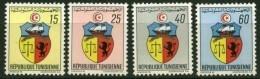 """Tunisie YT 666 à 669 """" Armoiries """" 1969 Neuf** - Tunisia"""