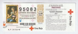 RED CROSS CROIX ROUGE CRUZ ROJA ESPAÑOLA - 2019 - Billetes De Lotería
