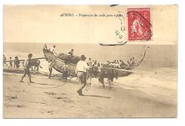 Cpa...Portugal...AVEIRO....preparacao Da Saida Para A Pesca...animée...1920... - Aveiro