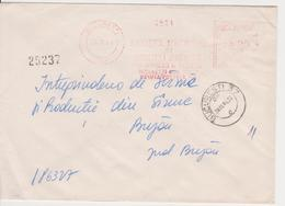 MINISTRY OF AGRICULTURE RED MACHINE STAMPS AMOUNT 4 LEI BUCURESTI ROMANIA - Marcofilia - EMA ( Maquina De Huellas A Franquear)
