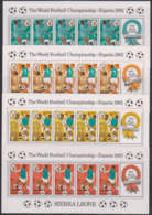 Soccer World Cup 1982 - SIERRA LEONE - Set Of 4 Sheets MNH - 1982 – Espagne