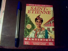 Étiquette   Rhum  Blanc  Agricole SAINT ÉTIENNE Martinique à St Étienne Le Gros Morne - Rhum