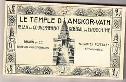 Temple D'Angkor Vath Exposition Coloniale Paris 1931 Carnet 24 Cartes Etat Neuf - Cambodge