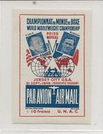 VIGNETTE -CHAMPIONNAT DU MONDE BOXE -MARCEL CERDAN- T ZALE- JERSEY CITY USA -21 SEPT 19418 - Sports