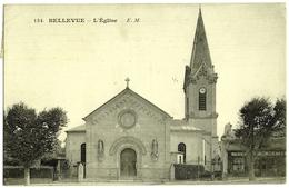 CPA DE BELLEVUE  (HAUTS DE SEINE)  L'EGLISE - Meudon