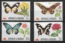 BIAFRA 1968 BUTTERFLIES - Vlinders