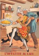 Illustrateur Jean PARIS - M. Barré & J. Dayez - Recette -  L'omolette Au Lard -  N° 1418 V - Andere Illustrators