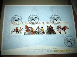 België - First Day Sheet 2020 - Suske En Wiske - 75 Ans De  Bob Et Bobette - FDS Willy Vandersteen - 2011-...