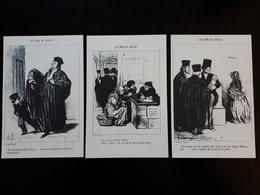 """Affichettes : Dessins """" Les Gens De La Justice """"  & - Estampes & Gravures"""