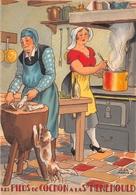 Illustrateur Jean PARIS - M. Barré & J. Dayez - Recette -  Les Pieds De Cochon à La Ste Menehould -  N° 1418 Y - Andere Illustrators