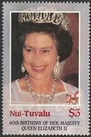 Niu-Tuvalu 1984 N° 74 NMH 60 Th Anniversaire De La Naissance De La Reine Elisabeth II (afp14) - Tuvalu
