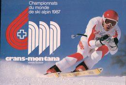 Crans Montana 1987, Championnats Du Monde De Ski Alpin, Marc Girardelli, Champion (12001) - Deportes De Invierno