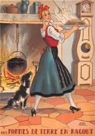 Illustrateur Jean PARIS - M. Barré & J. Dayez - Recette -  Les Pommes De Terre En Ragout -  N° 1419 A - Andere Illustrators