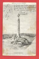 """C.P.A.  ( 29 )  """" BEUZEC """" Menhir Surmonté D'une Croix ( Jolie Animation )  X 2 Photos - Beuzec-Cap-Sizun"""