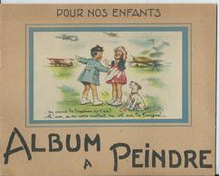 Germaine BOURRET - Album à Peindre - 12 Pages - 22 X 17,5 Cm- On Prend Le Bapteme De L'air...Très Bon état - Bücher, Zeitschriften, Comics