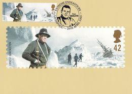 Ernest Shackleton Arctic Expedition Limited Liverpool Postmark Postcard - Famous People