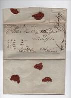 HONGRIE-  1846 - Document-Facture De Szekszard  Pour Krems ( Autriche )  Marque Postale- Cursive ( Faible ) - ...-1867 Voorfilatelie