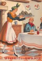 Illustrateur Jean PARIS - M. Barré & J. Dayez - Recette - Les Artichauds à La Barigoule -  N° 1419 Y - Andere Illustrators