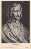 Robert Boyle The Father Of Chemistry Antique Postcard - Celebrità
