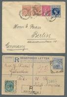 Ceylon / Sri Lanka: 1897-1936, Kleines Lot Aus Fünf Karten Und Briefen, Alle Sehr Dekorativ. Zwei Da - Sri Lanka (Ceylon) (1948-...)