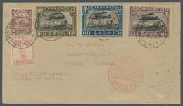 China - Flugpost: 1931, Erstflug Nanking-Shanghai-Manjur-Moskau-Berlin Mit Chinesischem Sonderstempe - China