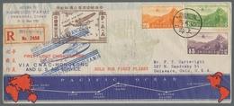 China - Flugpost: 1937, Erstflugbeleg Hongkong - San Francisco Mit Flugboot, Sehr Attraktiver Umschl - China