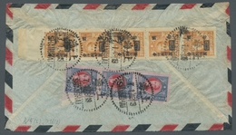 China - Flugpost: 1948, Luftpostbrief In Prachterhaltung Von Shanghai Nach Prag, Auf Der Rückseite F - China