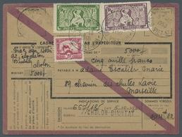 Französisch-Indochina: 1932-50, Vier Frankierte Geldüberweisungsformulare Nach Frankreich In Guter E - Indochina (1889-1945)
