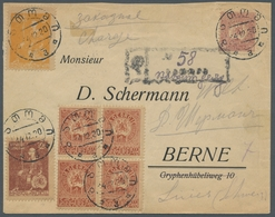 """Georgien: 1919-20, """"70 Kop., 1, 2 And 5 Rbl. Regullar Issue"""", Registered Letter With Frontside Mixed - Georgien"""
