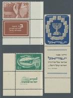 Israel: 1950-1952, Ausgabe Für Zwei Jahre Unabhängigkeit Und Freimarke Menora, 1000 Pruta, Jeweils P - Israel