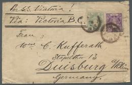 Japan: 1888, Neue Koban, 15 S. Violett Und 25 S. Hellgrün Auf Paketbegleitbrief Der 4. Gewichtsstufe - Japan