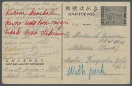 Japanische Besetzung  WK II - Malaya: 1945, Ganzsache 5 Sen Der Japanischen Besetzung Von Niederländ - Malaysia (1964-...)