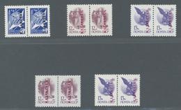 Kasachstan: 1992, Aufdruckausgabe, Beide Auflagen W Und V, Jeweils Type I Und II Komplett Inklusive - Kasachstan
