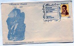 URUGUAY 1981 FDC EXFILBRA ALEJANDRO DE HUMBOLDT ASTRONOMO GEOGRAFO - NTVG. - Uruguay