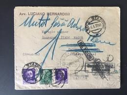 STORIA POSTALE - Lettera Per Romania - Ritornata Al Mittente In Italia - Imperiale 25 E 50 Cent (x2) 1930 - Poststempel