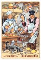 Illustrateur - M. Barré & J. Dayez - Recette - Les Escargots à La Bourguignonne - N° 1418 M - Illustratoren & Fotografen