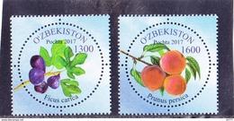 Uzbekistan 2017 Fruits 2v MNH** - Fruit