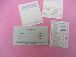 4 Tickets De Péage D'Autoroute Différents /Estérel Côte D'Azur/Bordighera/Milano-Venezia/ 1971   VPN300 - Transportation Tickets