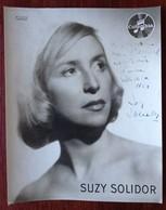 Suzy Solidor . Dédicace à Roger Coudoux Directeur Du Cabaret Paris-Montmartre à Marseille . Saphisme . Harcourt 28 X 22 - Célébrités