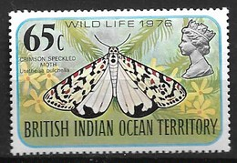BRITISH INDIAN OCEAN TERRITORY 1976 BUTTERFLIES - Butterflies