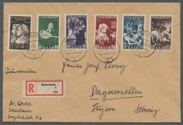 """Saarland (1947/56): 1951, """"Reformation Und Volkshilfe"""" Komplett Auf Satz-R-Brief Von SAARLOUIS 1 G 2 - 1947-56 Allierte Besetzung"""