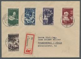 """Saarland (1947/56): 1951, """"Volkshilfe"""", Je Wert Zentral Mit Ersttags-Tagesstempel SAARBRÜCKEN 2 G 03 - 1947-56 Allierte Besetzung"""