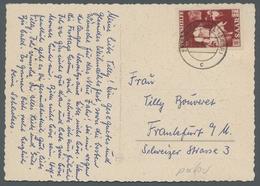 """Saarland (1947/56): 1951, """"18 Fr. Volkshilfe"""" Als Portorichtige EF Auf Weihnachtskarte In Guter Erha - 1947-56 Allierte Besetzung"""