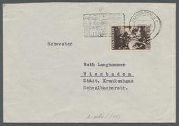 """Saarland (1947/56): 1951, """"50 Fr. Volkshilfe"""" Als Portorichtige EF Auf Brief Mit Seltenem Maschinen- - 1947-56 Allierte Besetzung"""