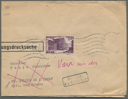 """Saarland (1947/56): 1952, """"2 Fr. Saar V"""" Als Portorichtige EF Auf Sehr Seltener """"Verbilligter Zeitun - 1947-56 Allierte Besetzung"""