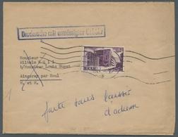Saarland (1947/56): 1952, 2 Fr. Violett, Aus SAAR V, Als Seltene Ef. Auf Drucksache Zu Ermässigter G - 1947-56 Allierte Besetzung